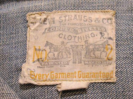 Levi Strauss Lot 213 Jacket, c1922-1936