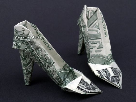 HIGH HEELS Money Origami  Women Shoes - Designed by Jodi Fukumoto: