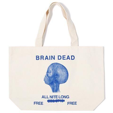 BRAIN DEAD ALL NIGHT LONG TOTE / NATURAL - Deadstock.ca  - 1