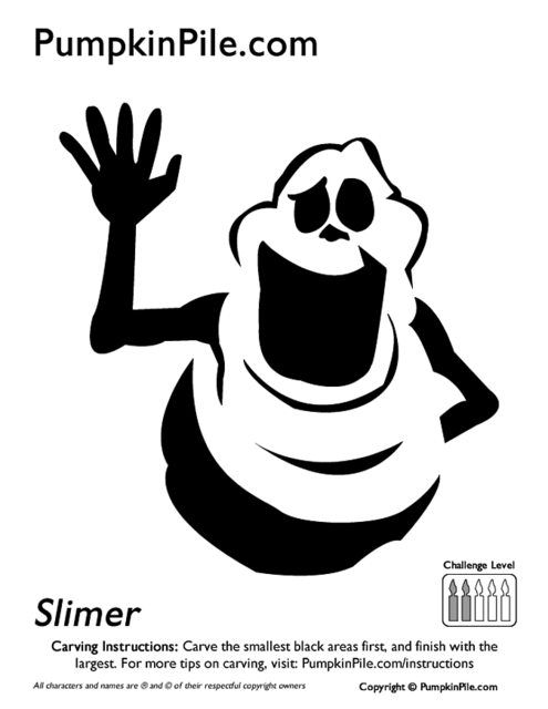 free ghostbusters pumpkin carving stencils