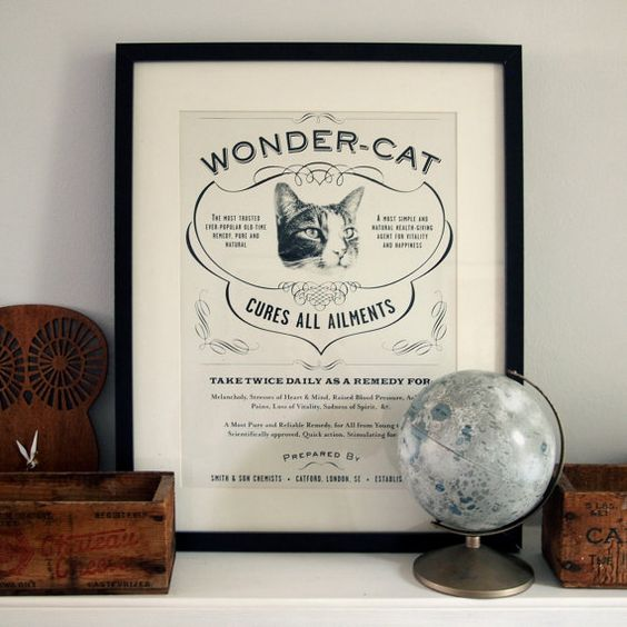 Love the sentiment behind this, and the vintage style. Plus, it has a cat on it!! From etsy seller whatkatiedoes.