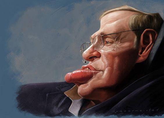 "CARICATURAS DE FAMOSOS: ""Stephen Hawking"" por Mark Hammermeister"