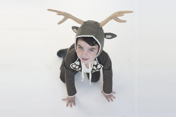 All costumes are in stock and ready for fast delivery! ................................................................................... Check out those antlers walking around; this boys deer...