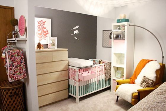 Options of placing the nursery in the master bedroom. | The ...