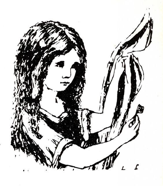 Lewis Carrol's own illustration of Alice. via Imprint.