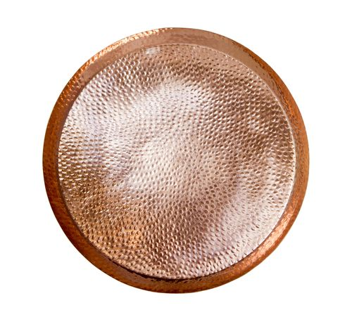 Buy Our Circular Hammered Copper Tray For $55.95. One of our best sellers, this 16 Ounce hammered pure copper mug looks good in your hand and keeps your drinks feeling cold