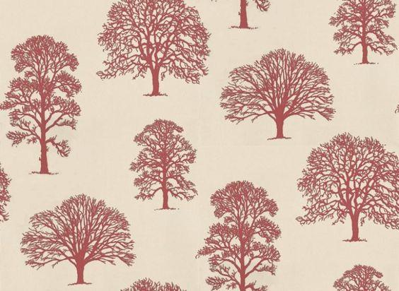 Richmond (W5870/02) - Osborne & Little Wallpapers - Tree silhouettes ...