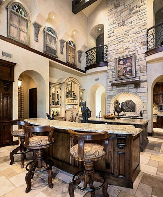 Mediterranean Style Kitchens: Colors, Floors And Casual On Pinterest