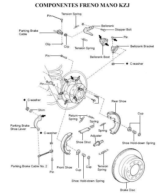 Resultado De Imagen Para Diagrama De Frenos Para Tercel 1998 Brake Shoes The Struts Tension