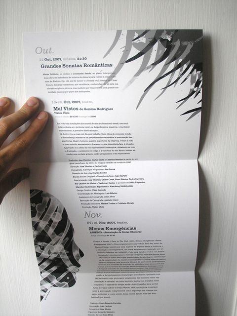 Angled Text Brochure
