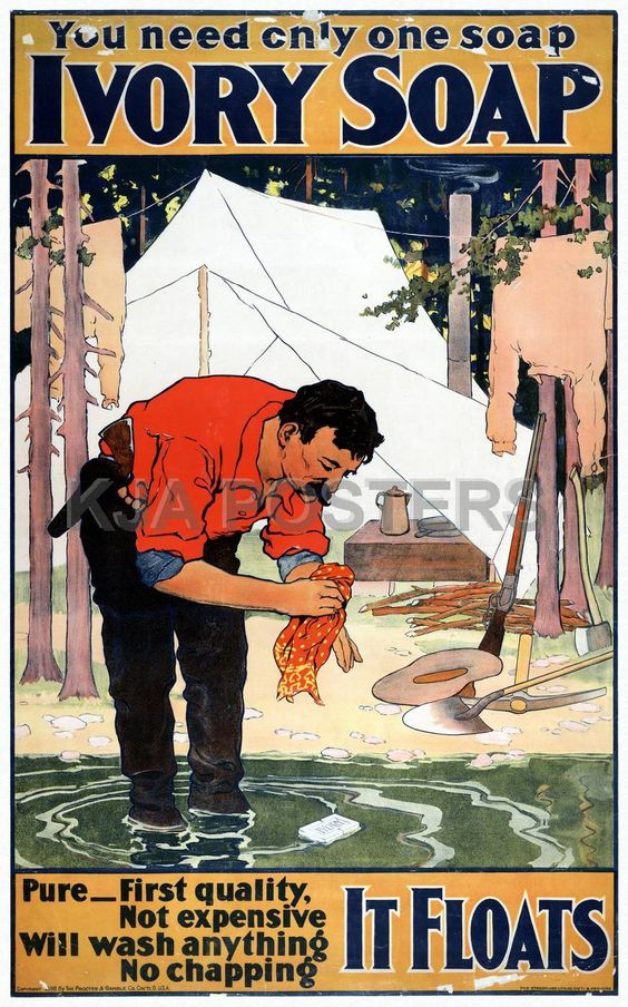 Vintage Posters - Vintage Ivory Soap Camping Ad from 1898 Hodge Podge ...