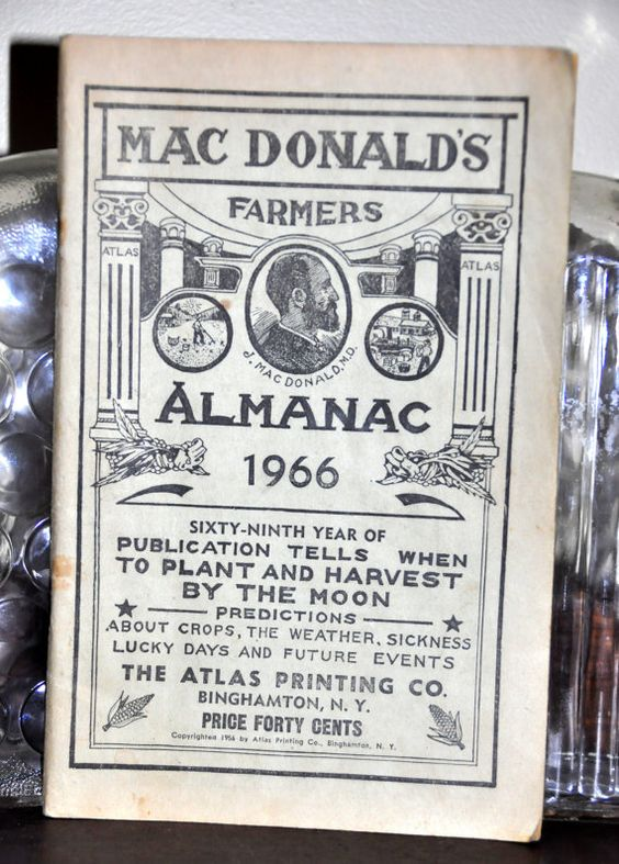 Macdonald 39 s farmers almanac 1966 farming farm farmer 39 s for Farmers almanac for fishing