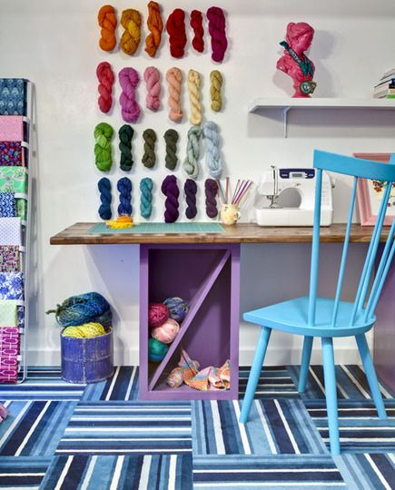 A place for knitting, crafting, and working.