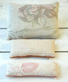 Sachet pillow.  Pinned because I love the print on neutral color.  Honeysuckle Lane Shop: Make an Offer Sale!!!