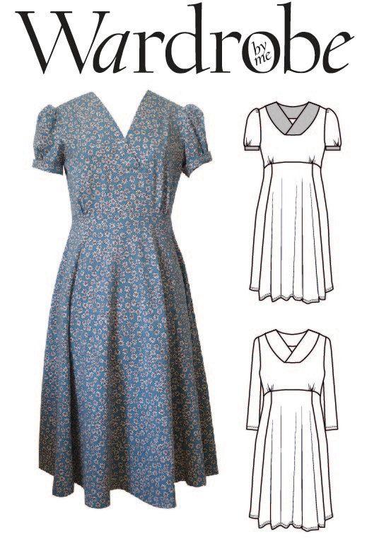 Dress PDF sewing pattern/ladies fitted jersey knit digital PDF ...