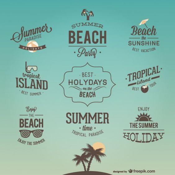 Retro-Urlaub Briefgestaltungen
