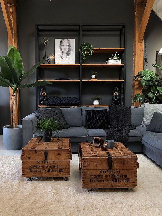 49 Amazing Industrial Living Room Decor Ideas Interior Design Rustic Rustic Living Room Living Room Designs Industrial living room decor ideas