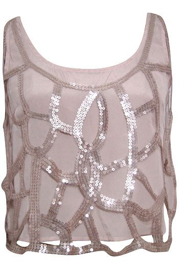 Roaring-20's,  Sequin-Overlay,  Cropped-Tank,  $36,  From Pitaya