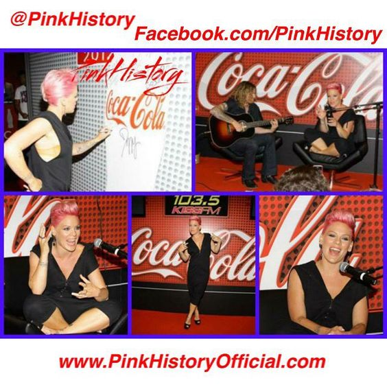 """""""On This Day in #PinkHistory 16th July 2012 Pink performed at Coca Cola Lounge 103.5 Kiss FM in Chicago. Check out www.PinkHistoryOfficial.com for more!…"""""""