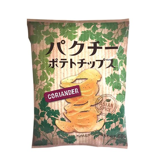 アジアの香り漂う♪カルディオリジナルの「パクチーポテトチップス」を試してみました!!