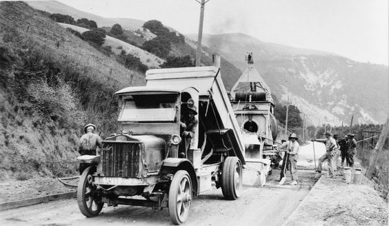 A Graniterock dump truck from many years ago.