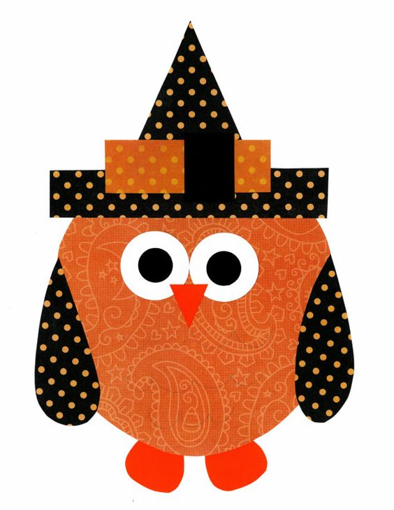 Orange Owl in a Black Hat // Nursery Artwork Print // Halloween Decoration // Kids Room Decoration // Gifts Under 20 on Etsy, $14.00