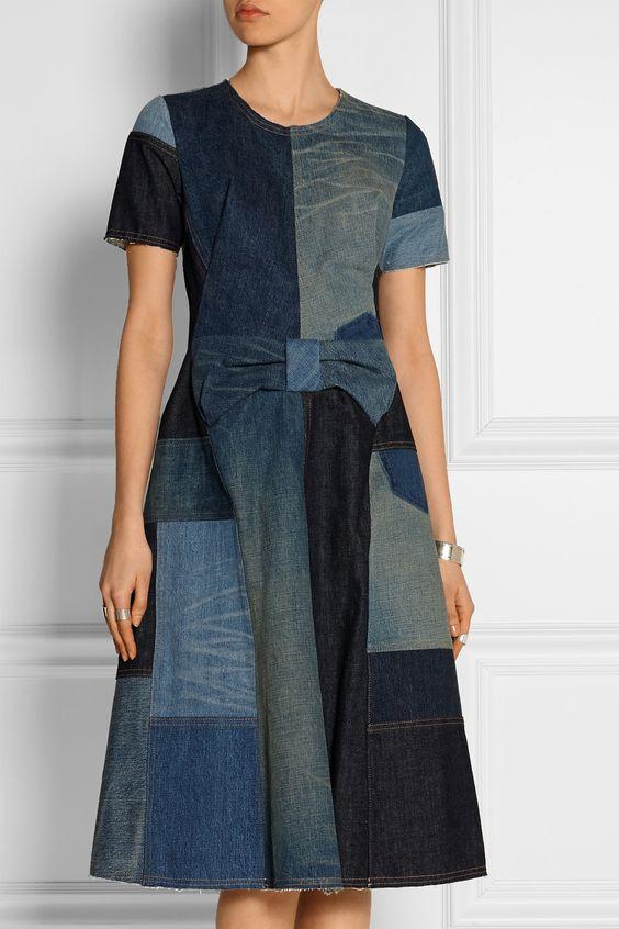Junya Watanabe | Patchwork denim dress | Ј970.83: