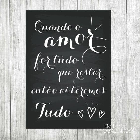 Pôster - Quando o amor... {Impresso}