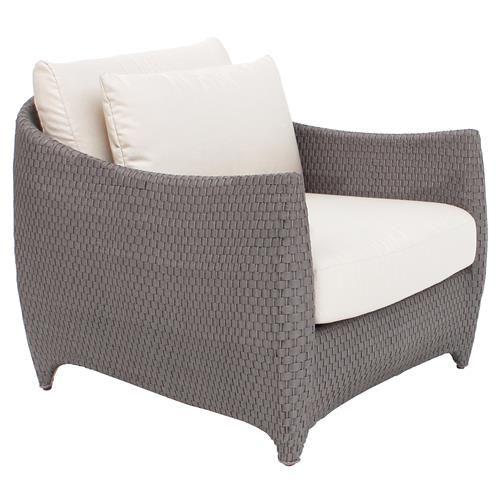 Weston Modern Beige Upholstered Grey Rattan Outdoor Lounge Chair Lounge Chair Outdoor Outdoor Chaise Lounge Outdoor Furniture