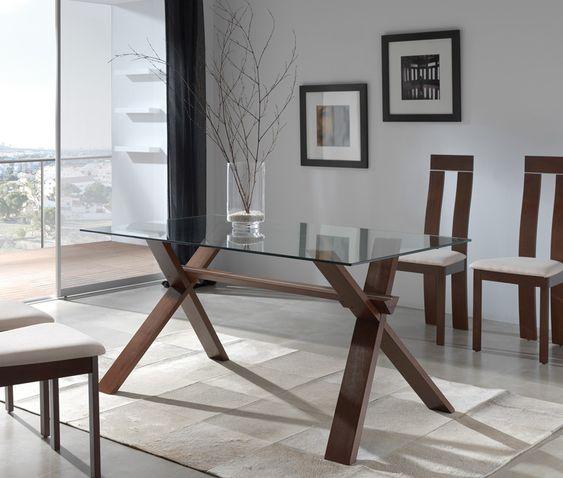 Mesa de comedor medidas 150 x 90 x 75 colores disponibles - Mesa de comedor cristal ...