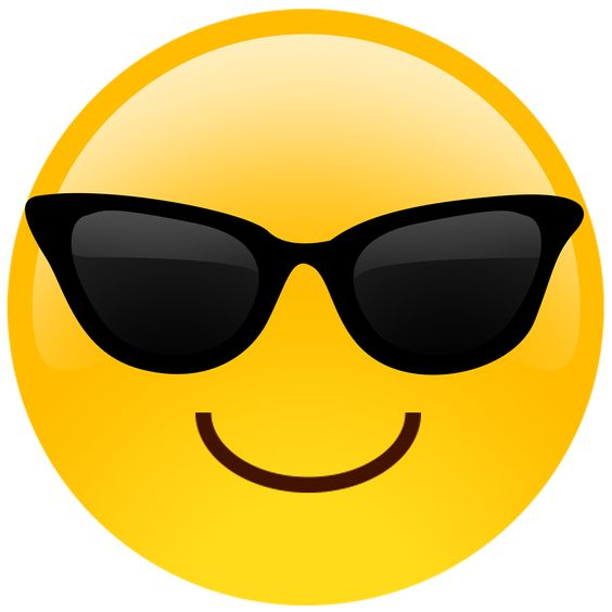 New sunglasses cutout emoji available as big head cutouts keychains