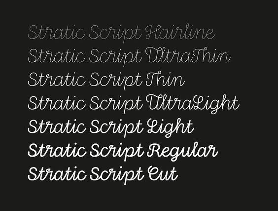 """Stratic scripy"" type / typo (2016) by NIco Inosanto in Nootype foundry (Switzerland)"