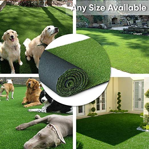 Amazon Com Petgrow Artificial Synthetic Grass Turf 9ftx9ft 81 Square Ft 0 8 Pile Height Indoor Outdoo Artificial Grass Rug Artificial Grass Mat Pet Turf
