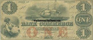1861 Bank Of Commerce, Savannah, Georgia $1 Note