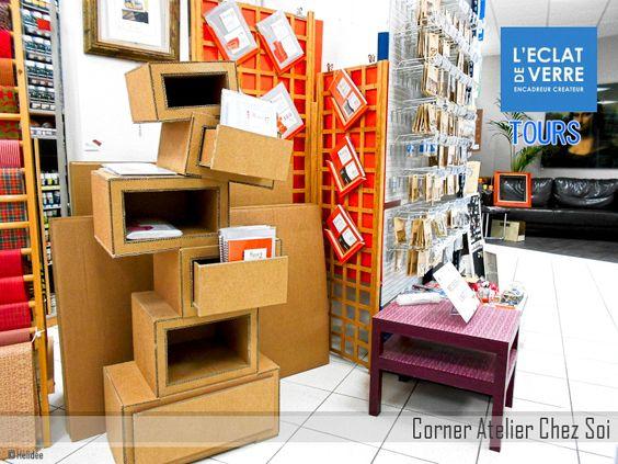 carton  espace Atelier Chez Soi au magasin Eclat de Verre de