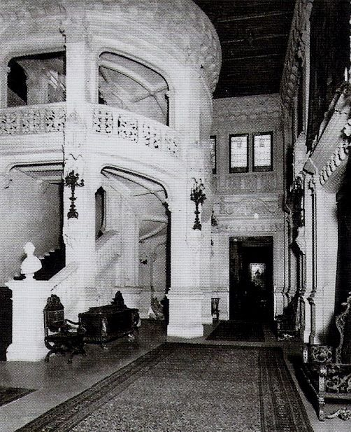 Cornelius Vanderbilt II Mansion. NYC. The Magnificent Caen Stoned Great Hall Reaching Up To The Top Of The House [04]