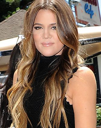Khloe Kardashian Balayage. Hair Color by George Papanikolas @ Andy Lecompte Salon LA, Rita