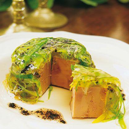 Aspic de foie gras au poireau et truffe