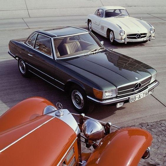 Mercedes-Benz / 500K, / R107 SL Roadster, / W198300 SL Coupé