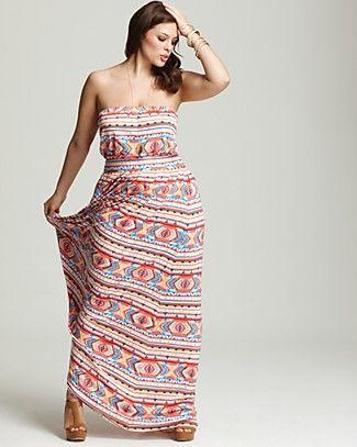 Rachel Pally White Label Plus Size Talmadge Strapless Maxi Dress #Coachella