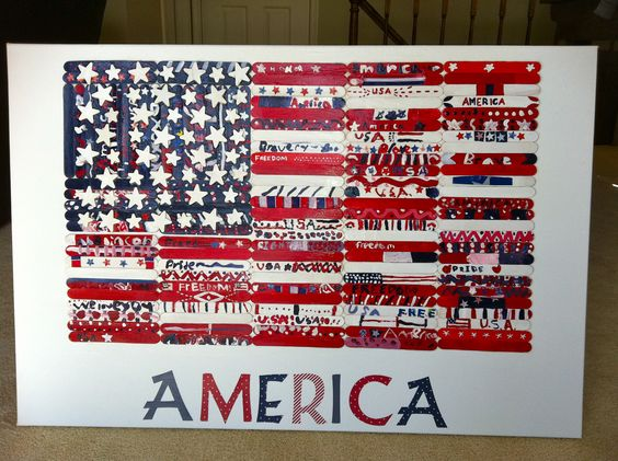 Class art projects, Popsicles and American flag on Pinterest