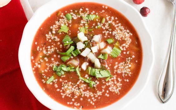 Cranberry Bok Choy Soup [Vegan] | One Green Planet