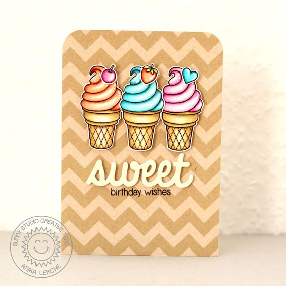 Sunny Studio Stamps: Sweet Shoppe Sweet Birthday Wishes
