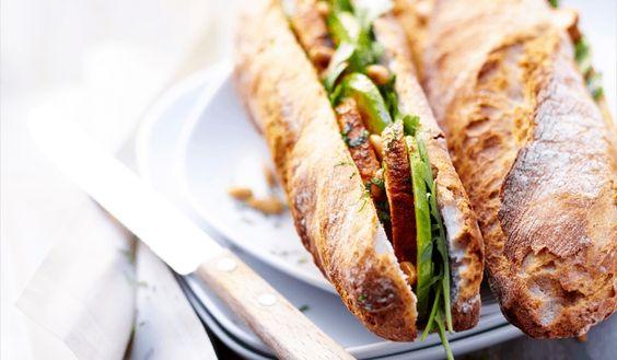 Sandwich poulet au tandoori, roquette et avocat (citron, menthe)- recettes Les plats - Picard