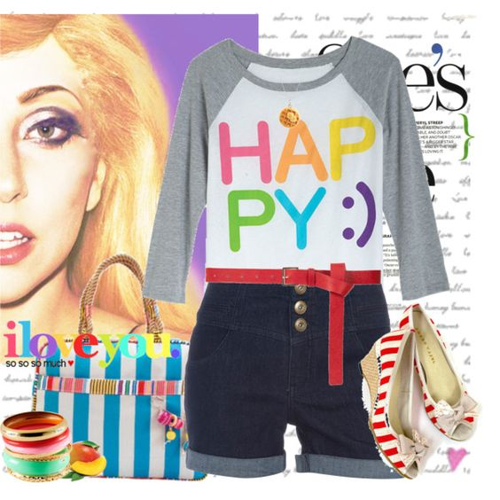"""""""HAPPY:)"""" by julia719 on Polyvore"""