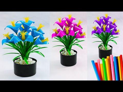 Membuat Bunga Dari Sedotan Yang Sederhana Dan Simple 2 Diy
