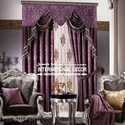 Curtains Ideas bedroom drapes and curtains : Purple Luxurious Living Room Curtains | largest catalog of purple ...