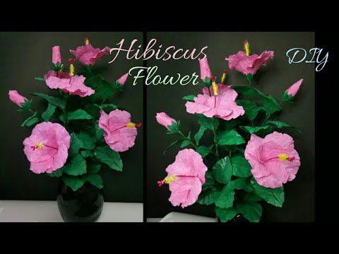 Hibiscus Flower From Plastic Bag Tutorial Kembang Sepatu Dari Plastik Kresek Youtube In 2021 Diy Flowers Recycled Plastic Bags Hibiscus