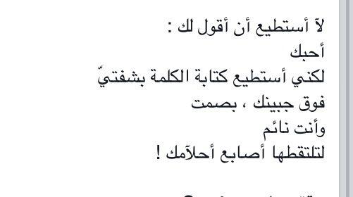 لا استطيع ان اقول لك احبك True Words Words Arabic Words