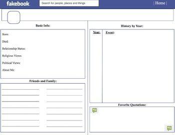 Facebook Template (Handout) | Teaching | Pinterest | Facebook and ...